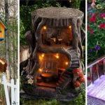 30 FAIRY GARDEN HOUSES – DIY Tree Stump Fairy House