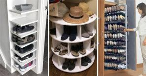 20 SHOE STORAGE IDEAS FOR SMALL SPACES - Shoe Storage Spaces for Small Closets