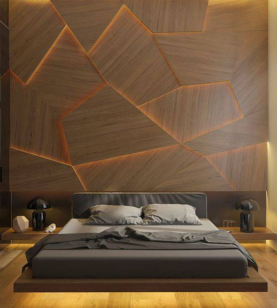 A Geometric Back Lit Wall - Amazing and Awesome