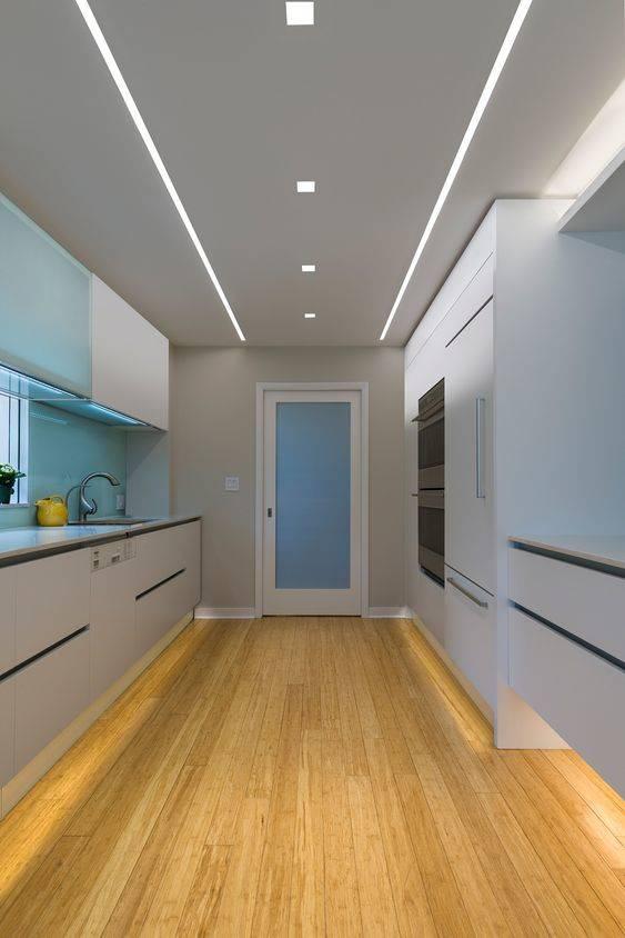 Geometric-Shaped Lights - Kitchen Cabinet Lighting Ideas