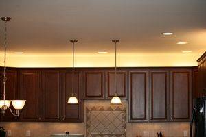 Lighting Above the Cabinets - A Brilliant Choice