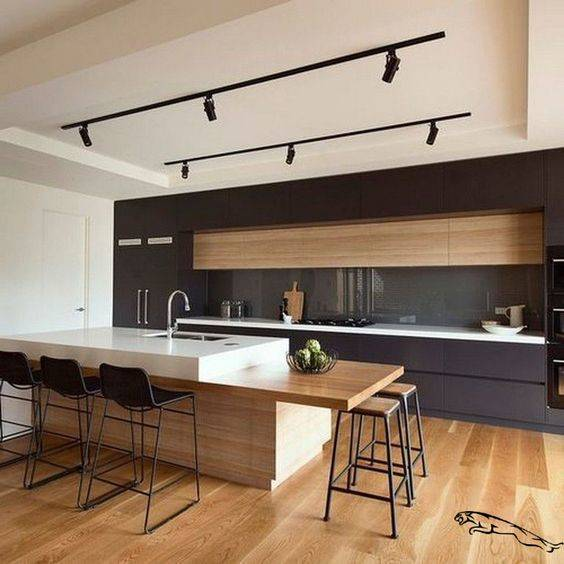 Monorail Lighting - Modern Kitchen Island Lighting Ideas
