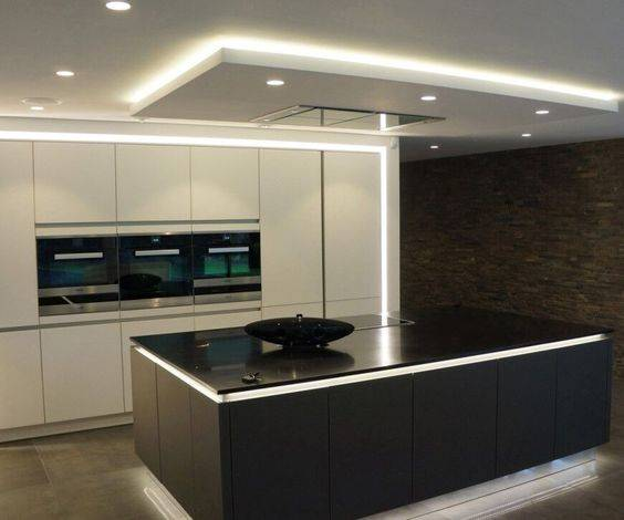 Above and Below - Modern Kitchen Island Lighting