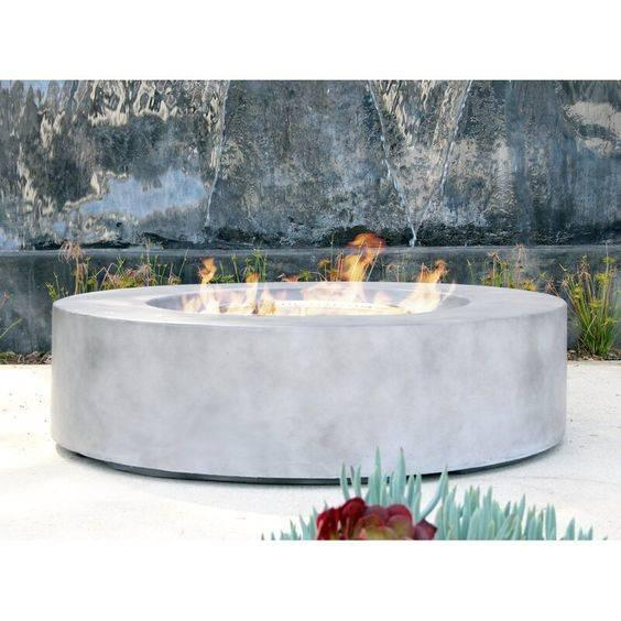 Lit by Gas - Modern Outdoor Fireplaces