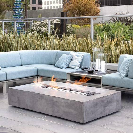 A Stylish Coffee Table - With a Fire