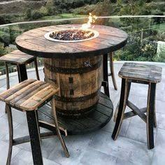 A Barrel Table - With an Additional Fireplace