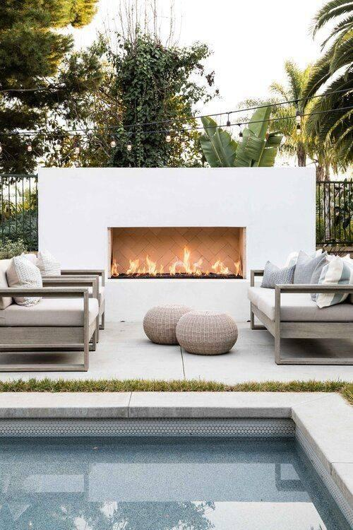 Coastal and Cool - Modern Outdoor Fireplaces