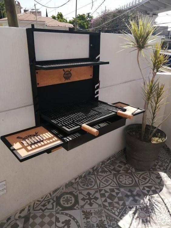 Fixated on a Wall – Outdoor Grill Designs