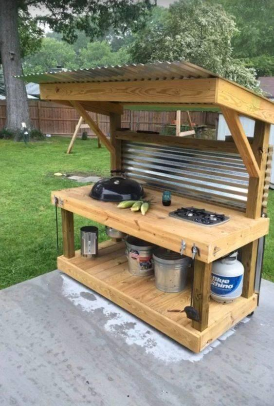 Combine Two Materials – Corrugated Metal and Wood