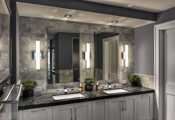 An Array of Tube Lights - Modern Bathroom Lighting