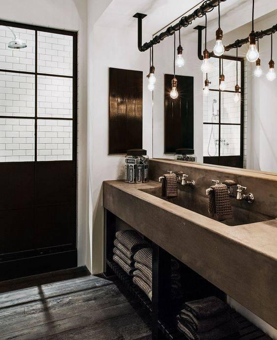 Industrial Chic Style - Modern Bathroom Lighting