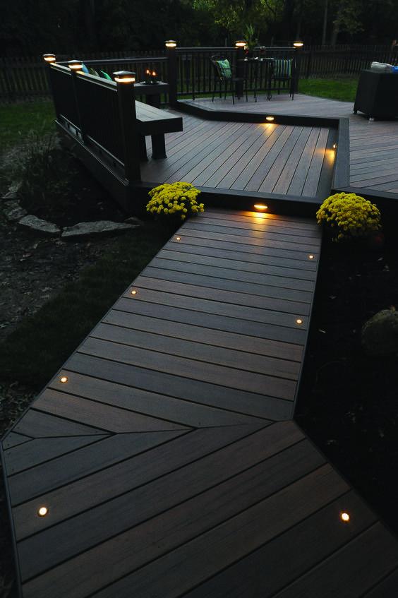Lighting a Deck or Terrace - Garden Lighting Ideas