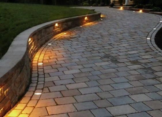 Brighten the Driveway - Backyard Lighting Ideas