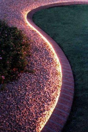 Use for Garden Edging - Backyard Lighting Ideas