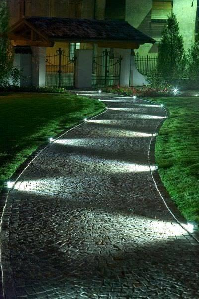 Lights on Both Sides - For the Garden Walkway