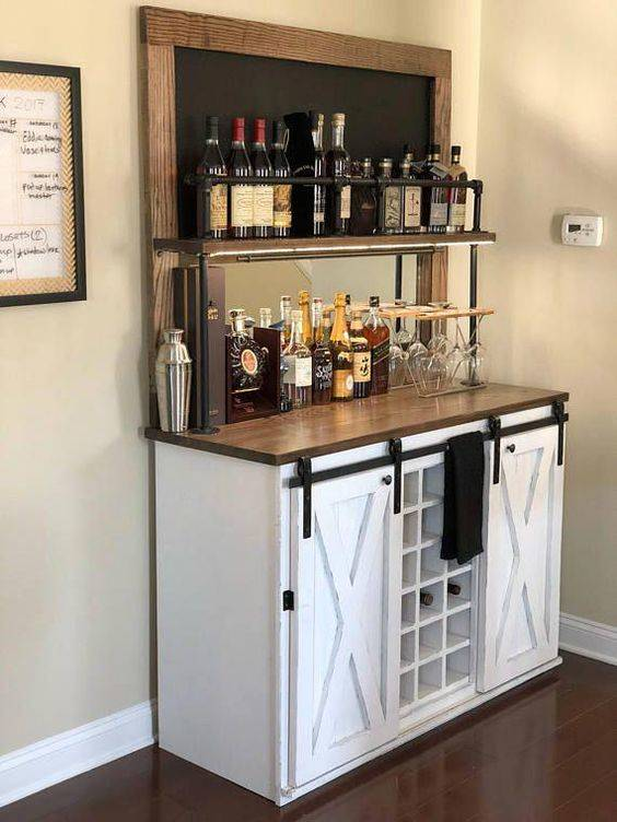 Space for Everything - Modern Home Bar Ideas