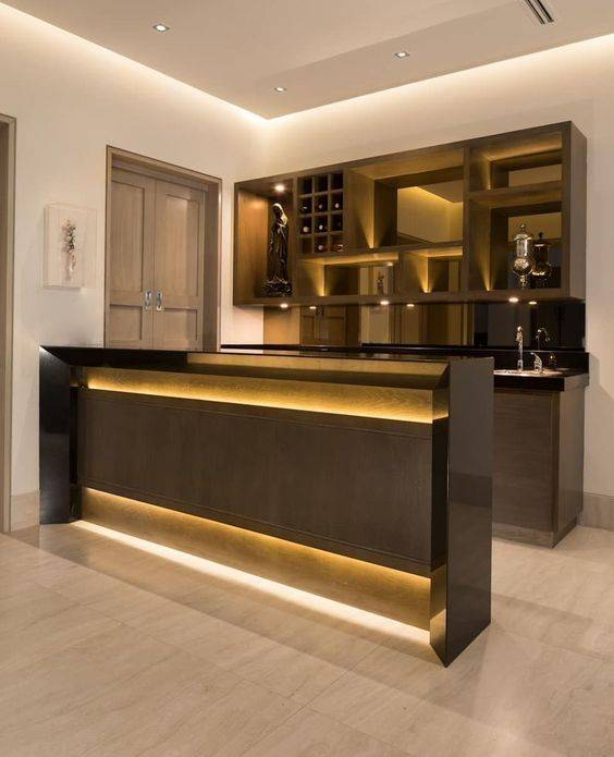 All About the Lighting - Living Room Bar Ideas