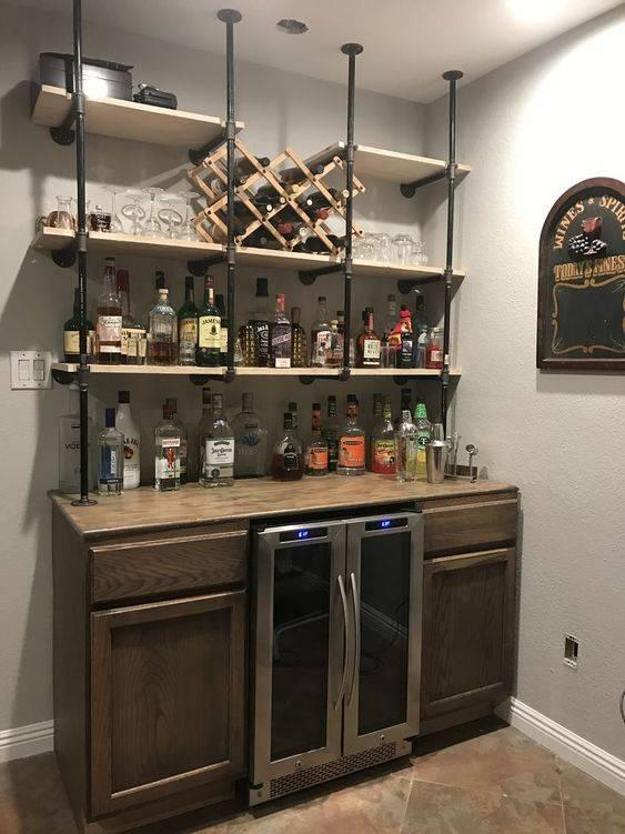 Innovative and Industrial - Living Room Bar Ideas