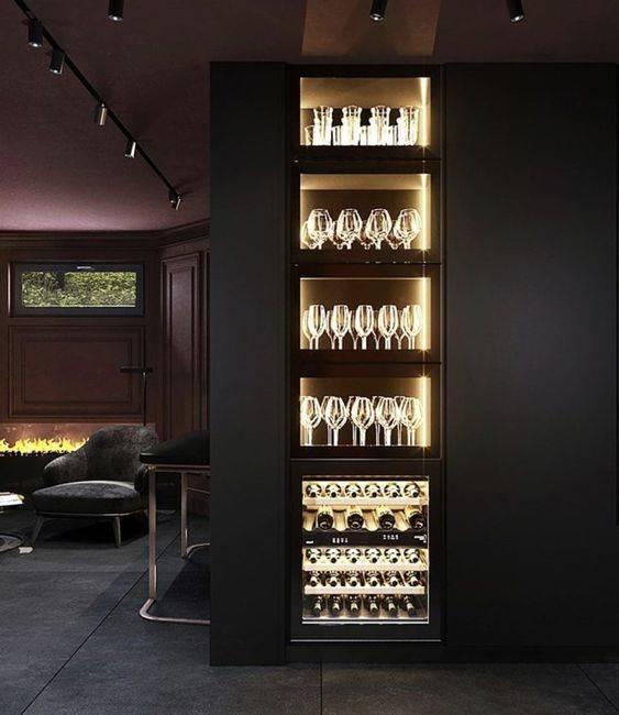 Glass Shelf Doors - With Brilliant Lighting