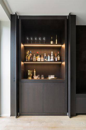 A Built-In Cabinet - Living Room Bar Ideas