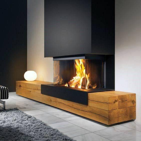 A Contemporary Design - Indoor Fireplace Design Ideas