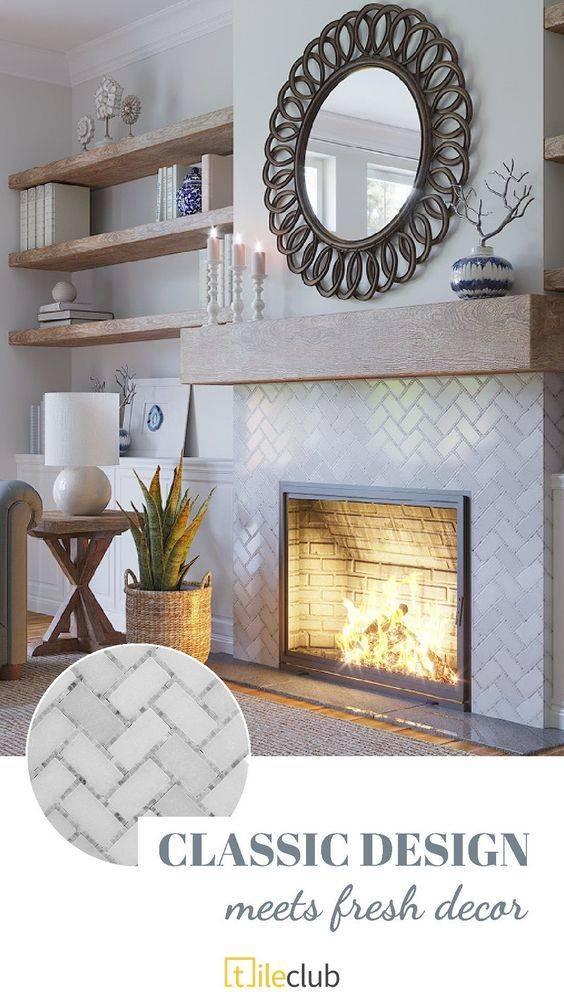 A Bit of Groove - Fireplace Design Ideas