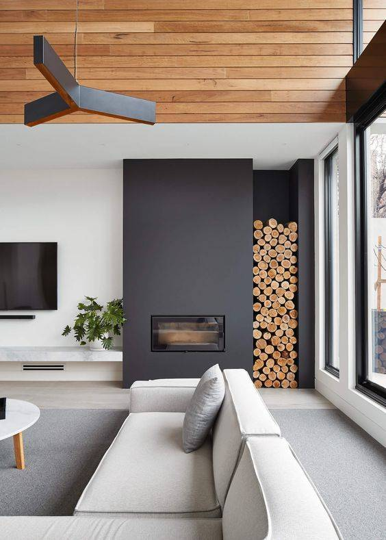 A Storage Space - Living Room Ideas with Fireplace