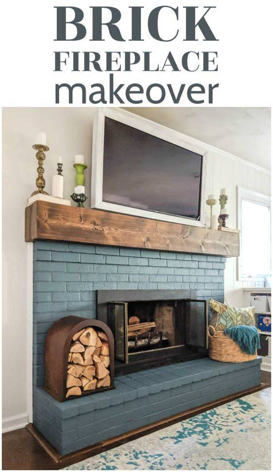 Painting a Brick Fireplace - Living Room Ideas with Fireplace
