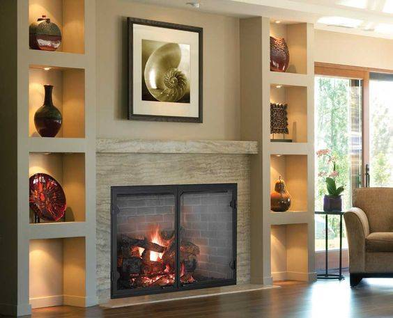Refined and Elegant - Fireplace Design Ideas