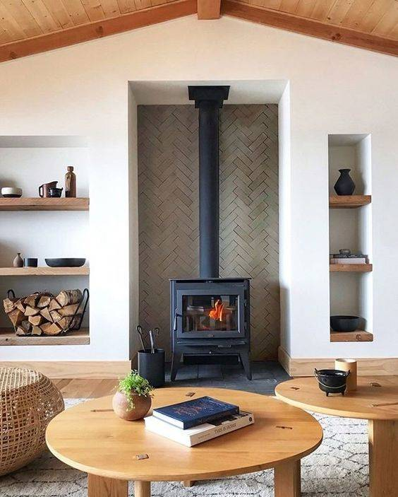A Wood Burning Stove - Industrial and Simple