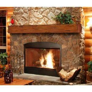 A Rustic Ambience - Living Room Ideas with Fireplace