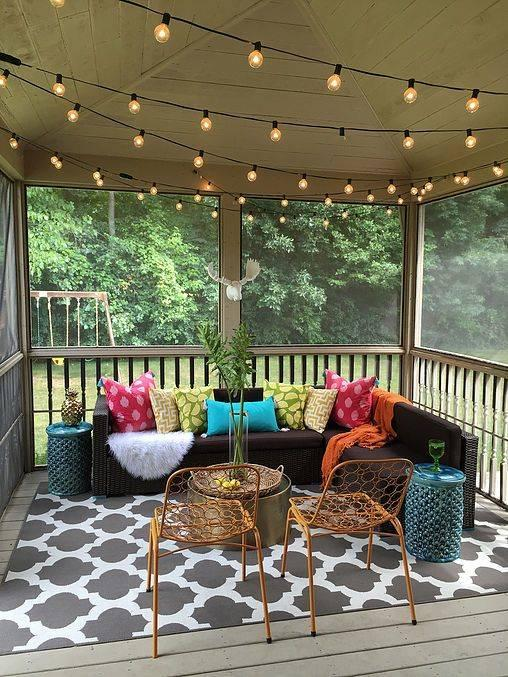 Bold and Modern - Small Front Porch Ideas on a Budget