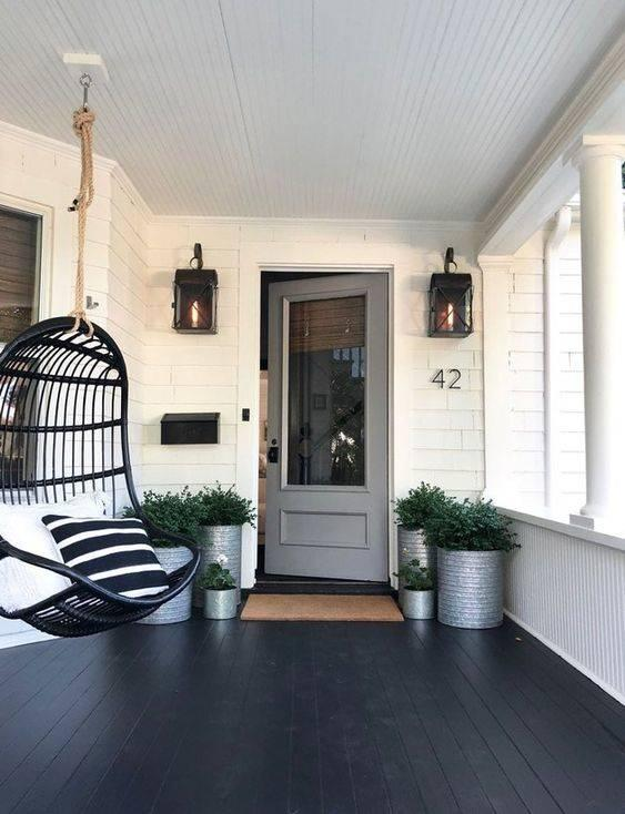 The Minimalist Look - Small Front Porch Ideas on a Budget
