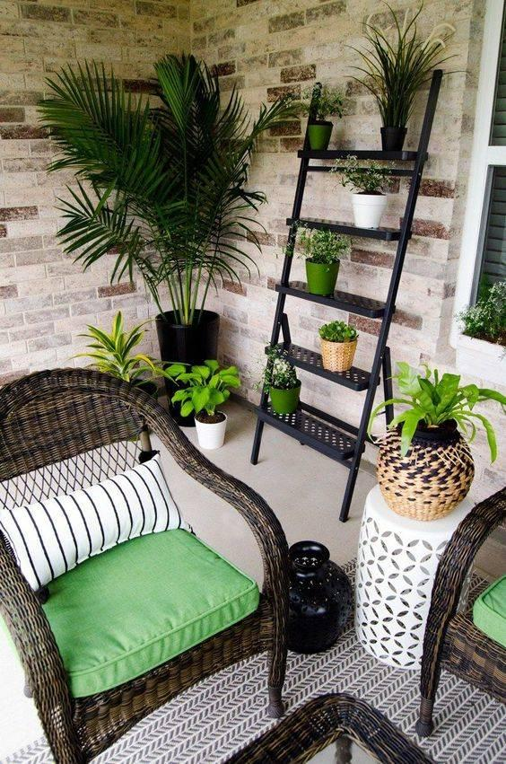 Lush and Green - Small Front Porch Decorating Ideas on a Budget