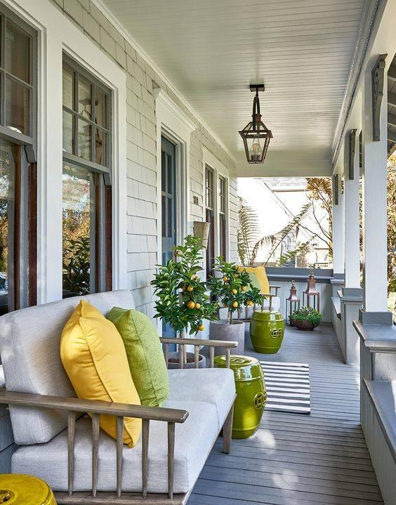 Lemons and Limes - Small Front Porch Ideas on a Budget