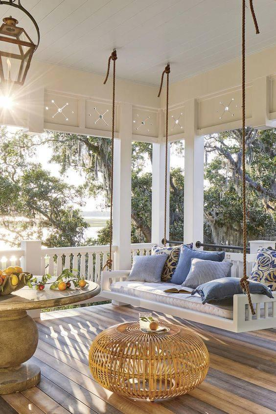 Elegant Refinement - Small Front Porch Decorating Ideas on a Budget