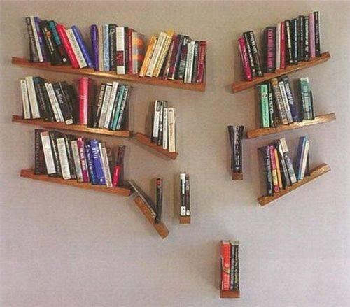All Over the Place - Slanted Floating Bookshelves