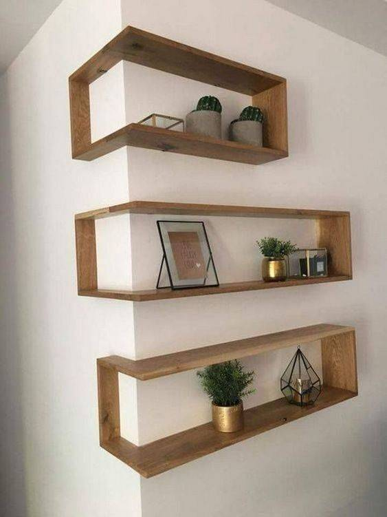Perfect for Corners - Bedroom Bookshelf Ideas