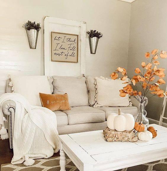 Brilliant in Burnt Orange - Fall Living Room Decor Ideas
