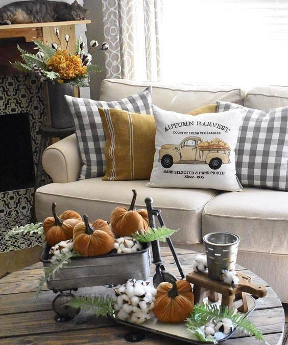 A Homely Vibe - Autumn Living Room Decor