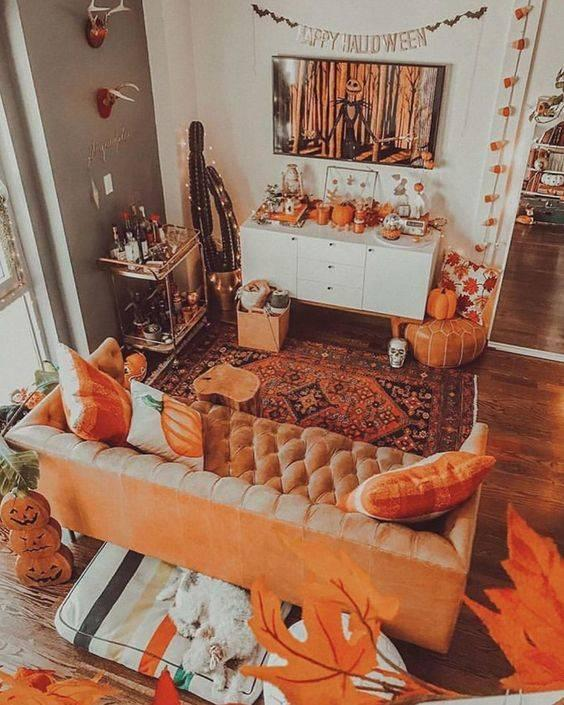 The Fall Theme - Autumn Living Room Decor