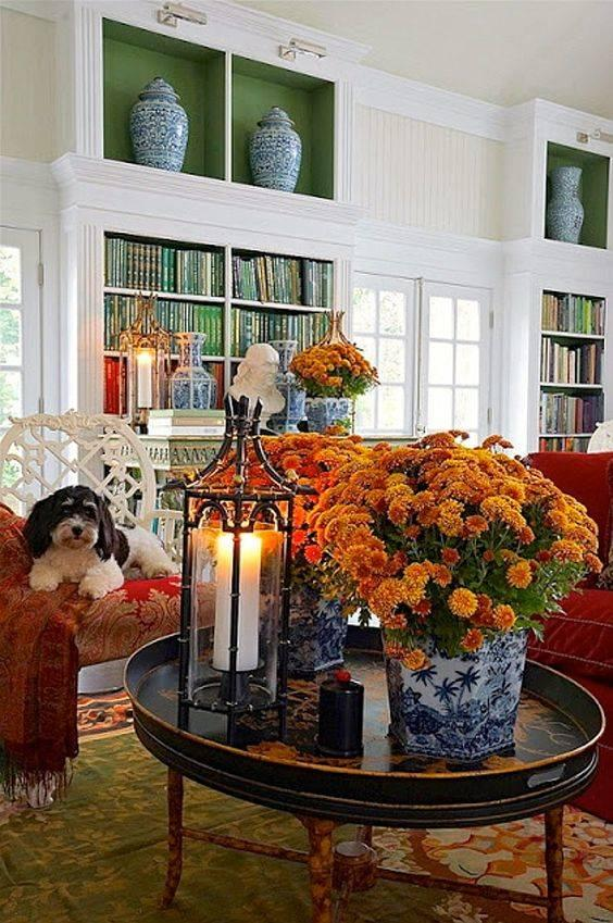 Warm and Welcoming - A Mix of Seasonal Flowers