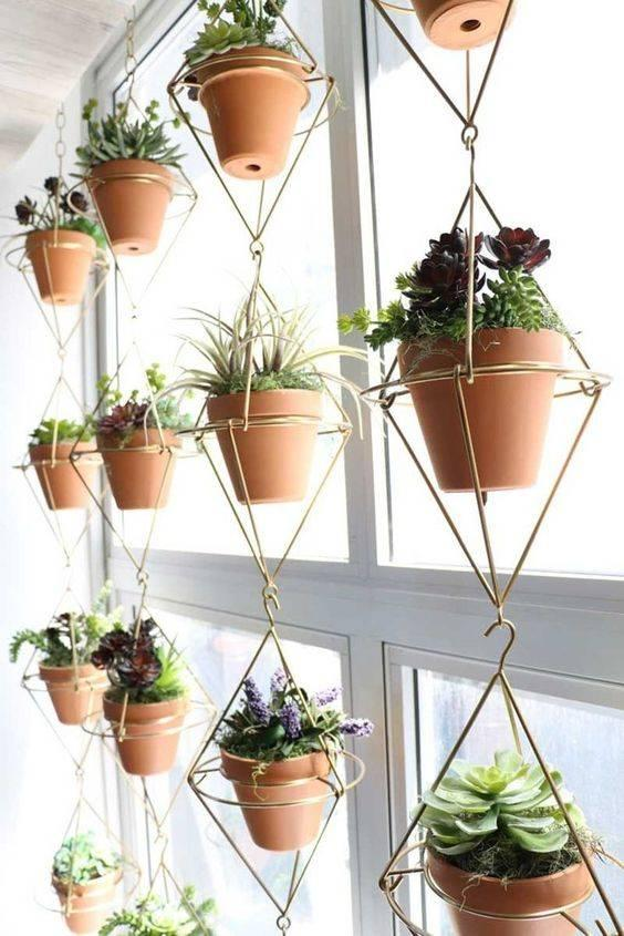 Geometric and Groovy - Metal Pot Hangers