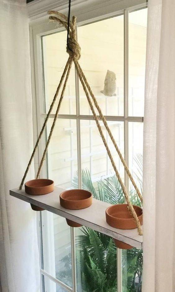 A Hanging Shelf - Herb Planters for Kitchen