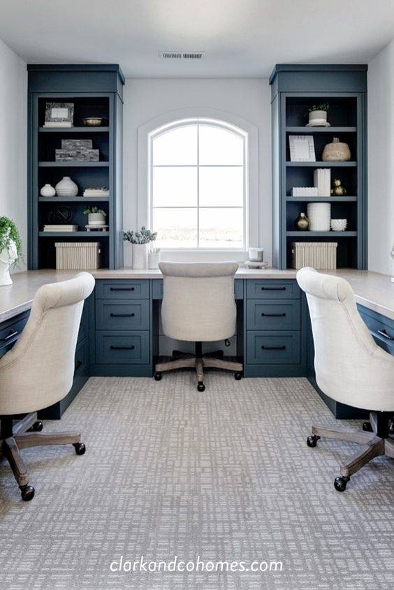 Surrounded by a Desk - Home Office Interior Design Ideas