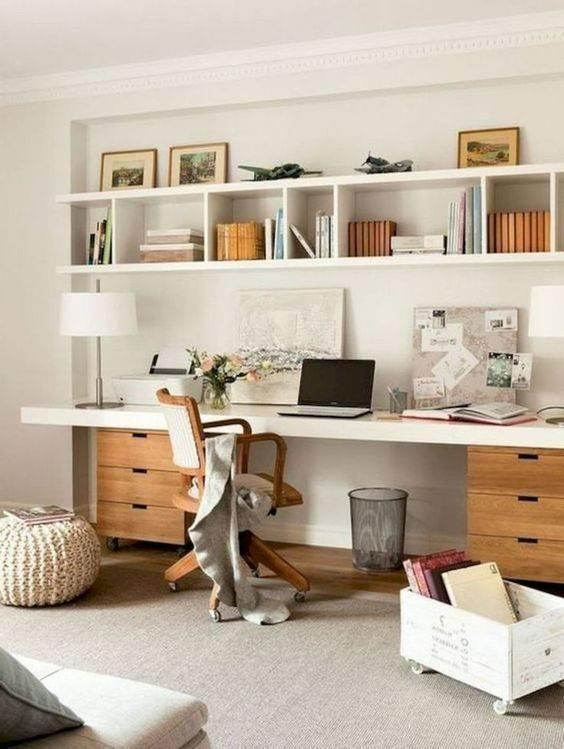 Enough Shelves and Drawers - Home Office Interior Design Ideas