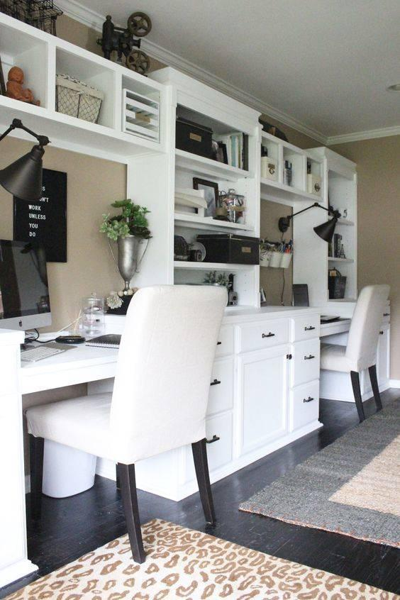 Connecting Two Work Spaces - Home Office Interior Design Ideas