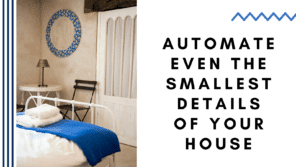 A bed in a room Description automatically generated