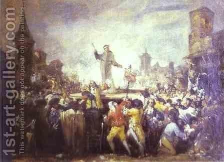 The Esquilache Riots. The painting by Goya