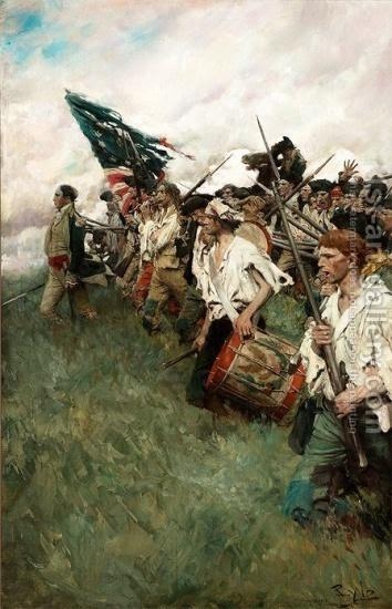 The Nation Makers. The painting by Howard Pyle
